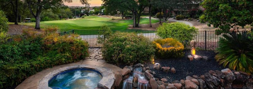 A view of the Whitney Oaks golf course in Rocklin, CA from the backyard of a house located on the course